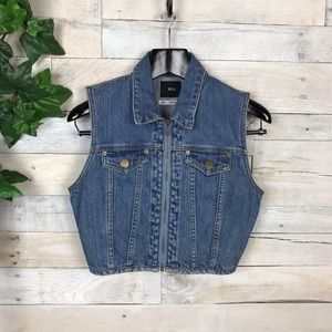 BDG Urban Outfitters Cropped Denim Trucker Vest S
